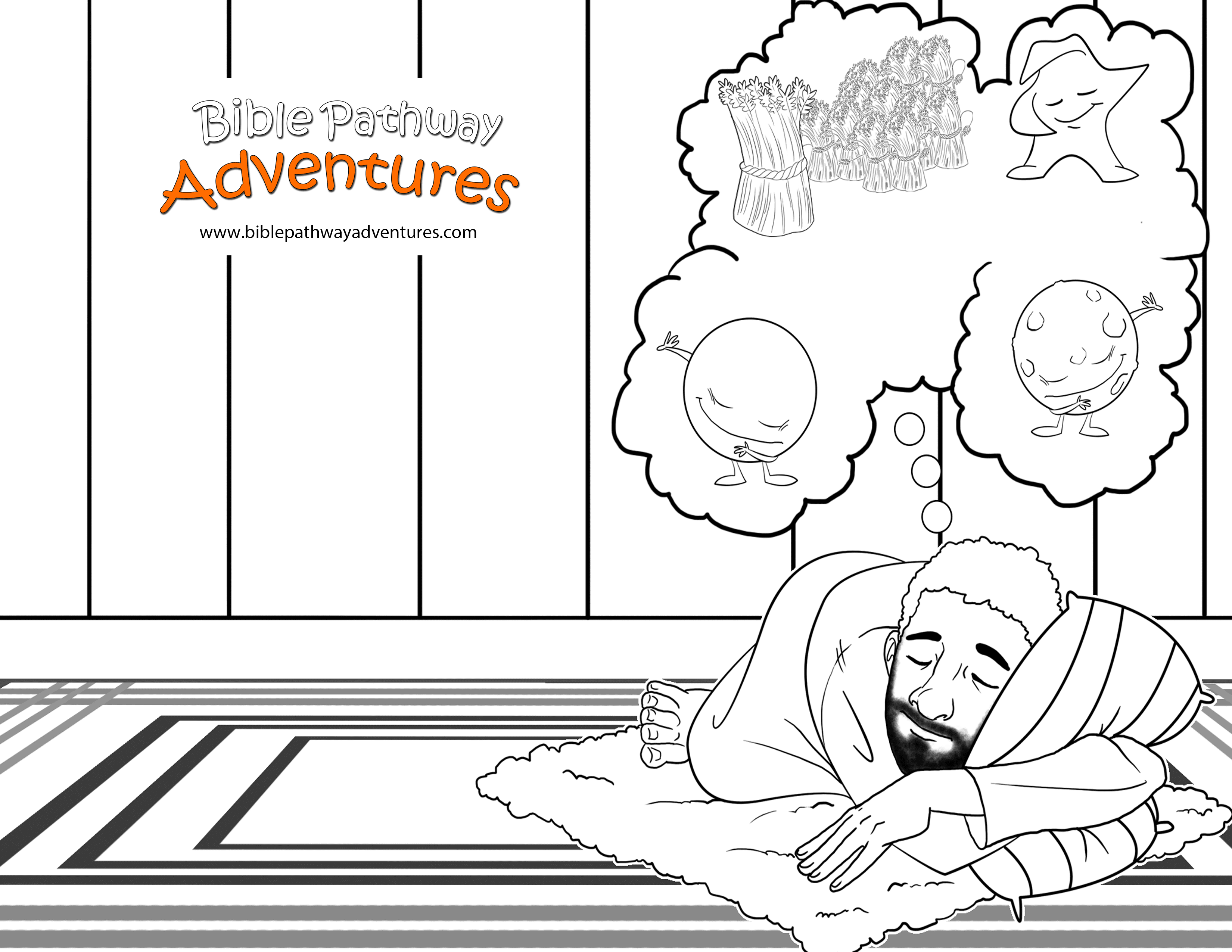 Free printable coloring page joseph dreams for Joseph king of dreams coloring pages