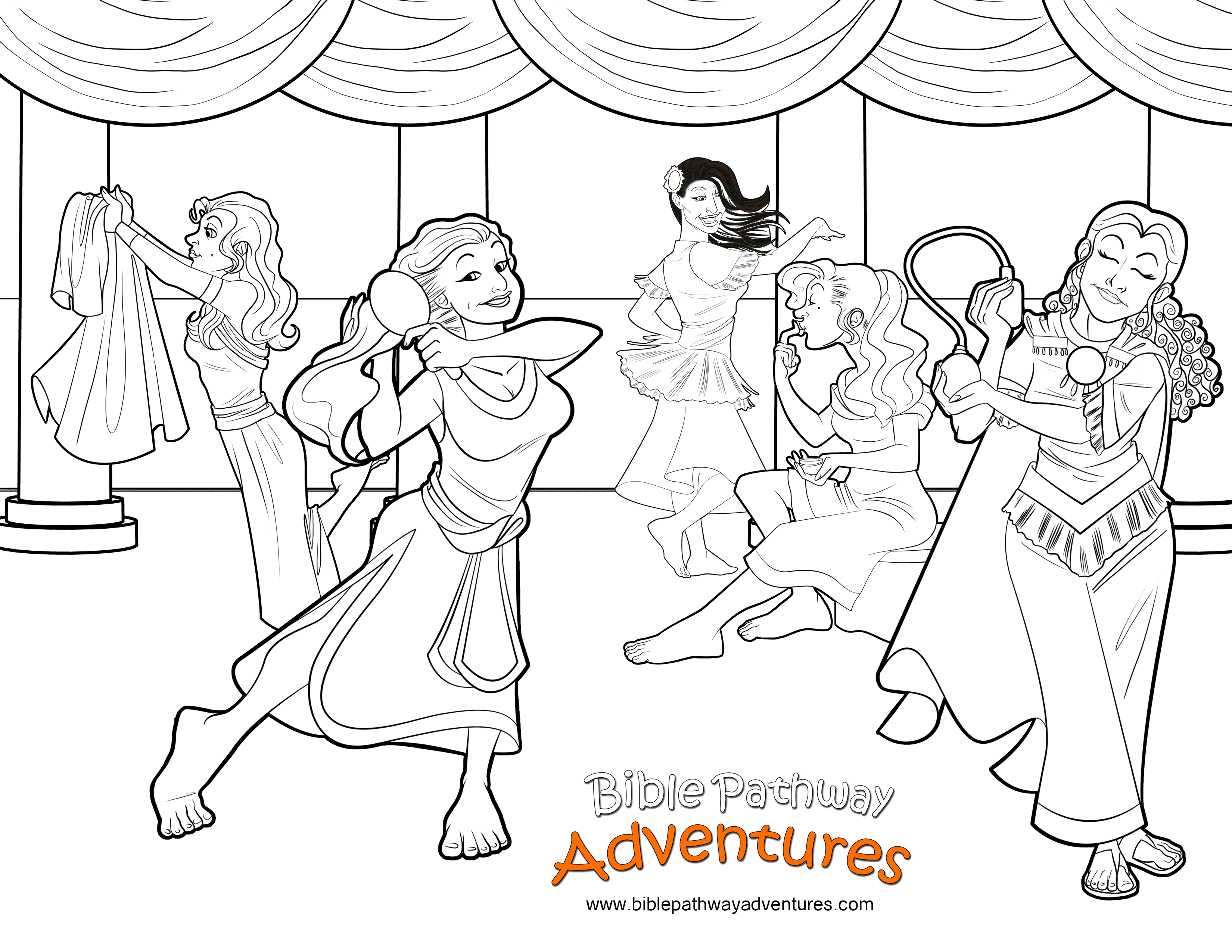 bible coloring page esther prepares to meet the king free download