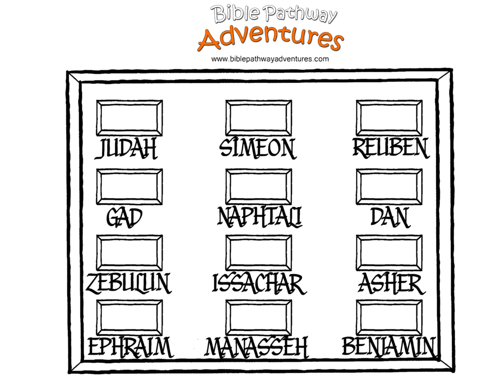 Bible Coloring page Twelve Tribes of Israel Free Download