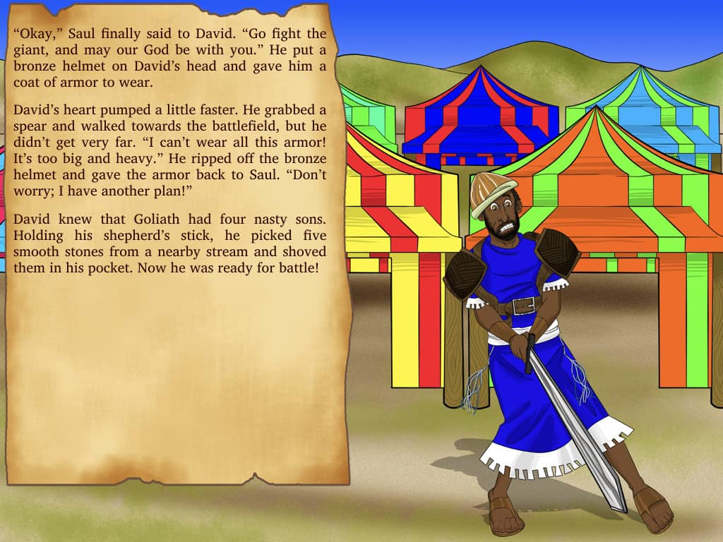 free bible story for kids - david and goliath