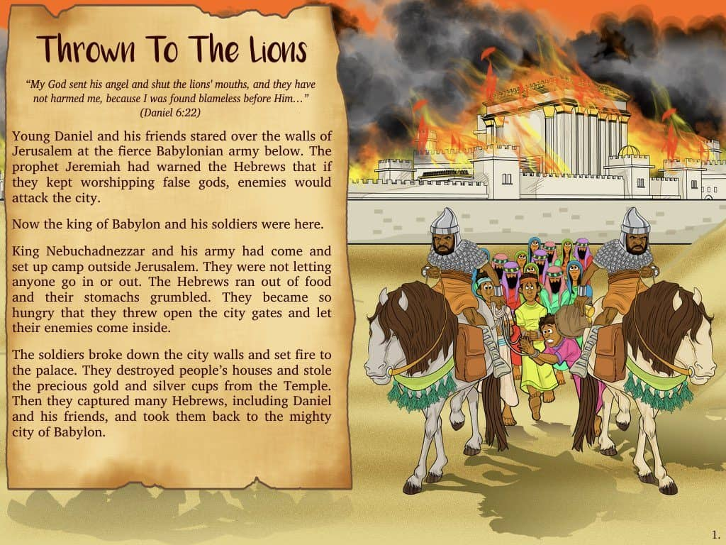Daniel Bible Story Daniel And The Lion S Den Thrown To