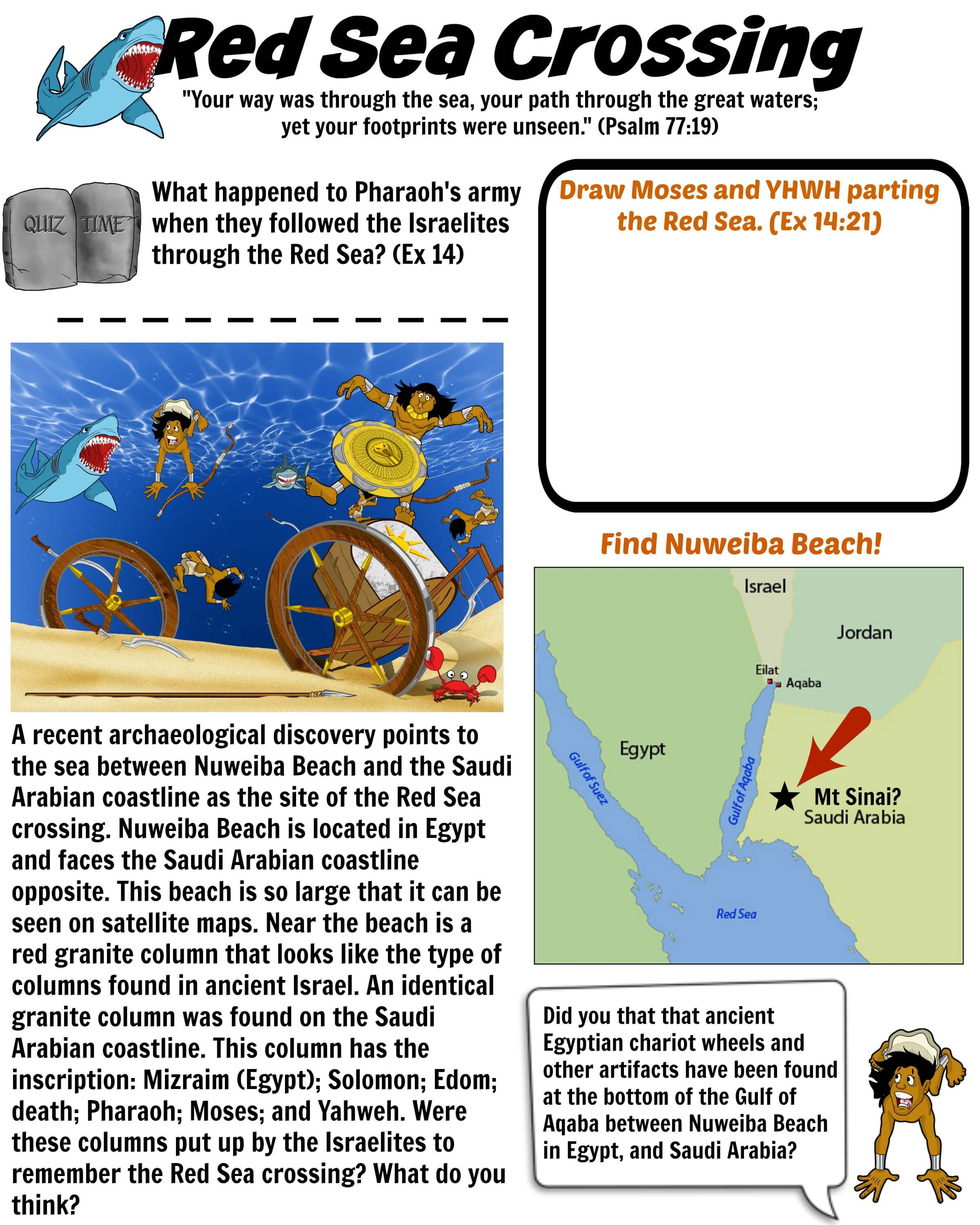Red Sea Crossing Bible worksheet Free Download