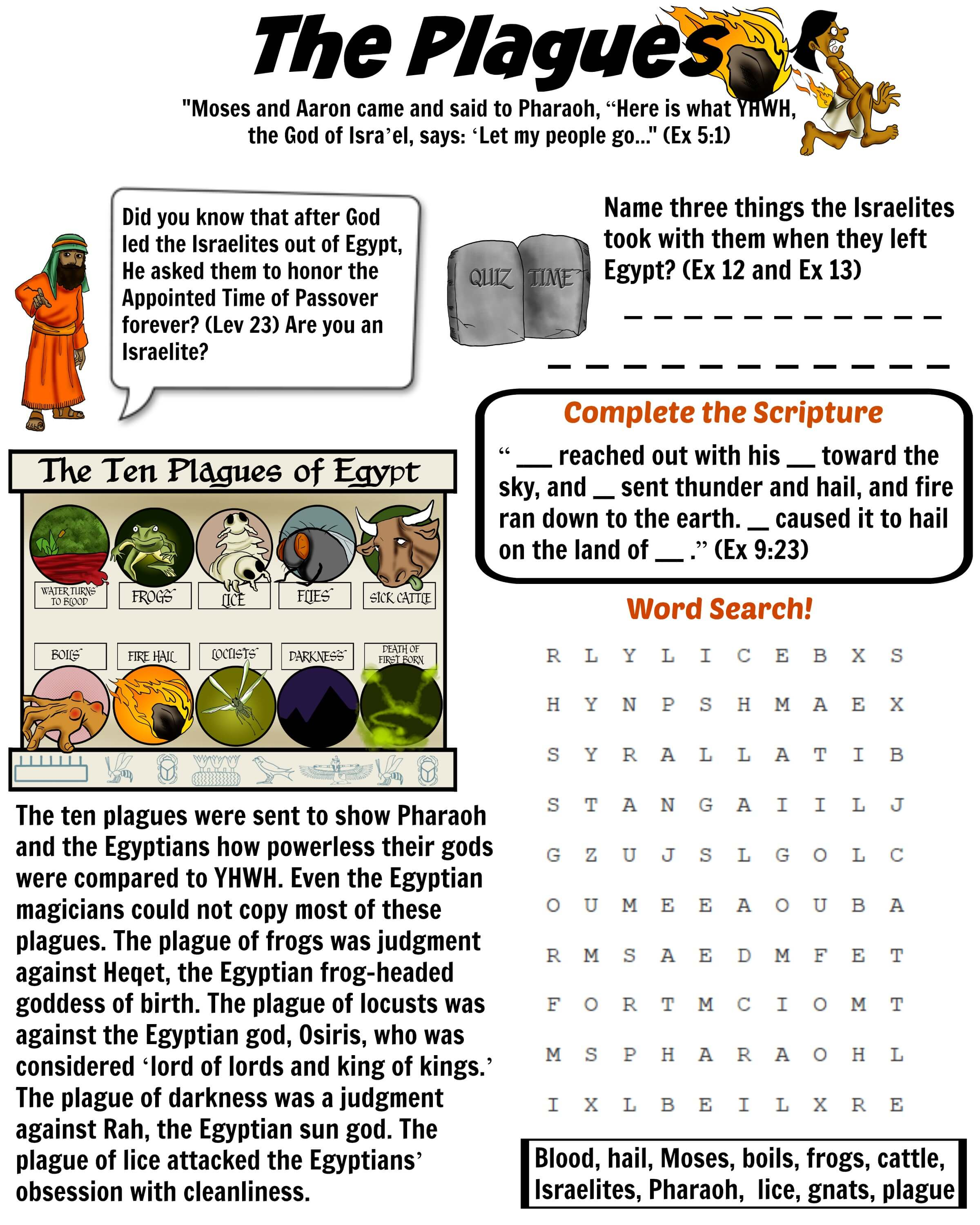Worksheets Bible Story Worksheets free ten plagues of egypt worksheet download project description