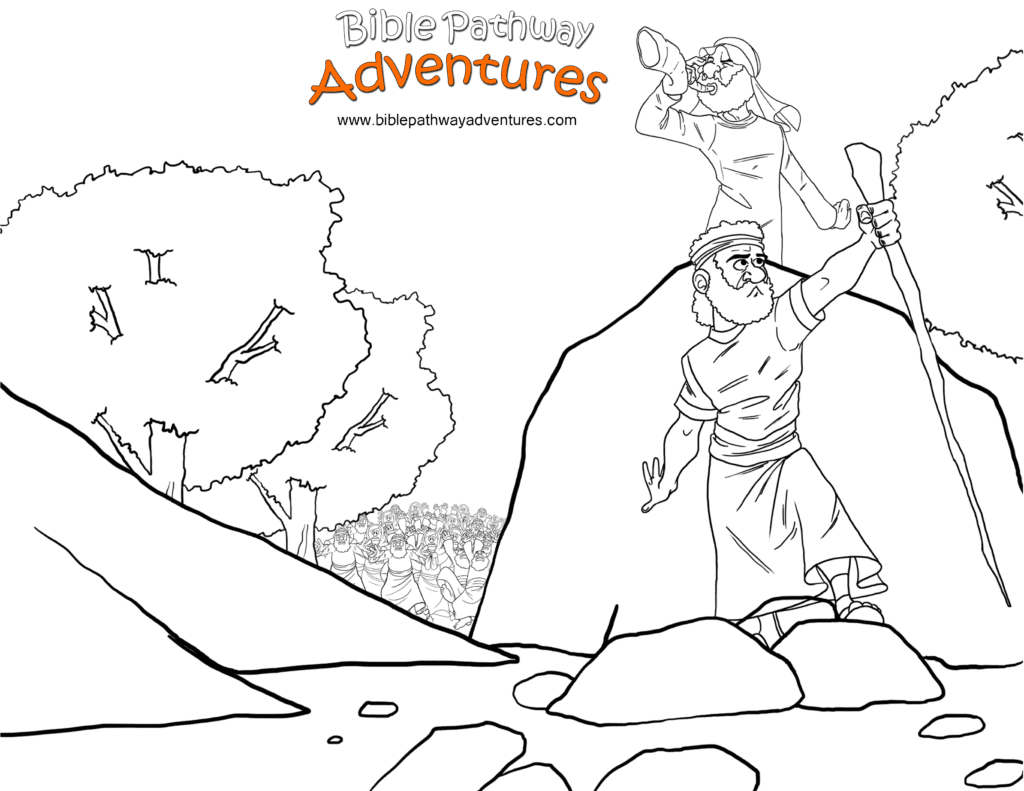 Free Bible Coloring Page To the