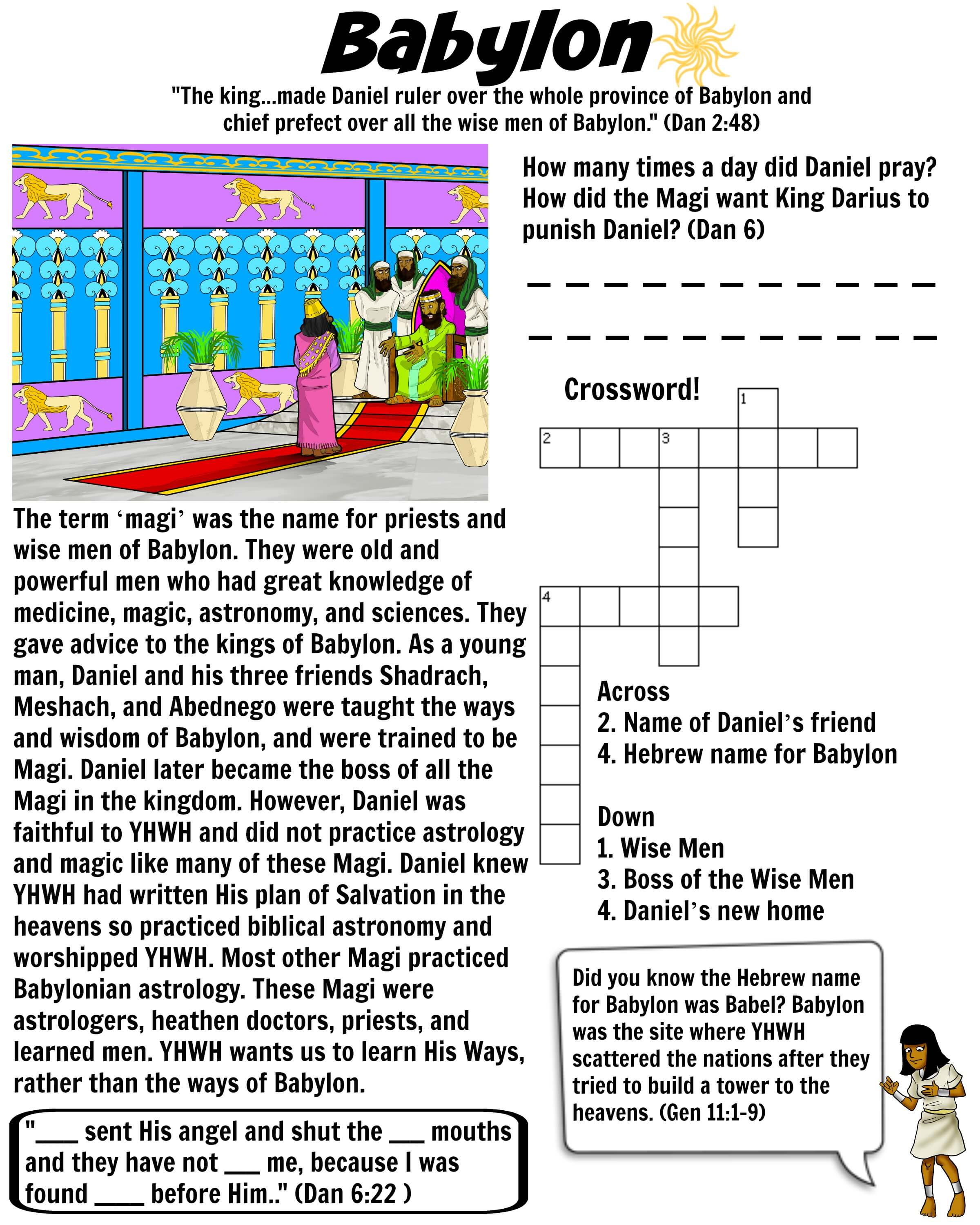 Babylon worksheet Magi Wise