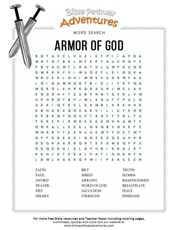Armor Of God Worksheet - Worksheet List