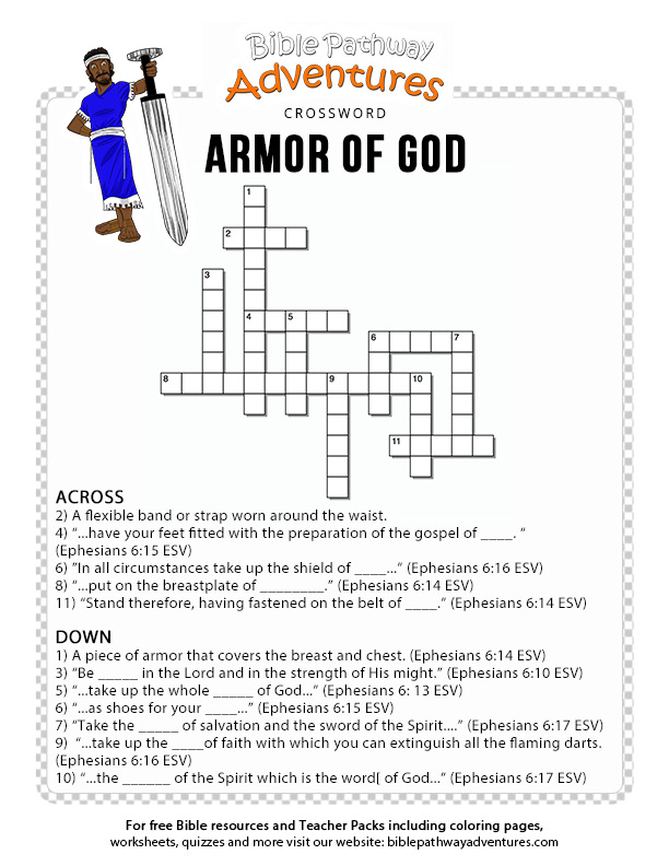 photo relating to Armor of God Printable titled Armor of God Bible Pathway Adventures