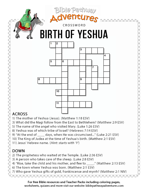 Birth of Yeshua – Bible Pathway Adventures