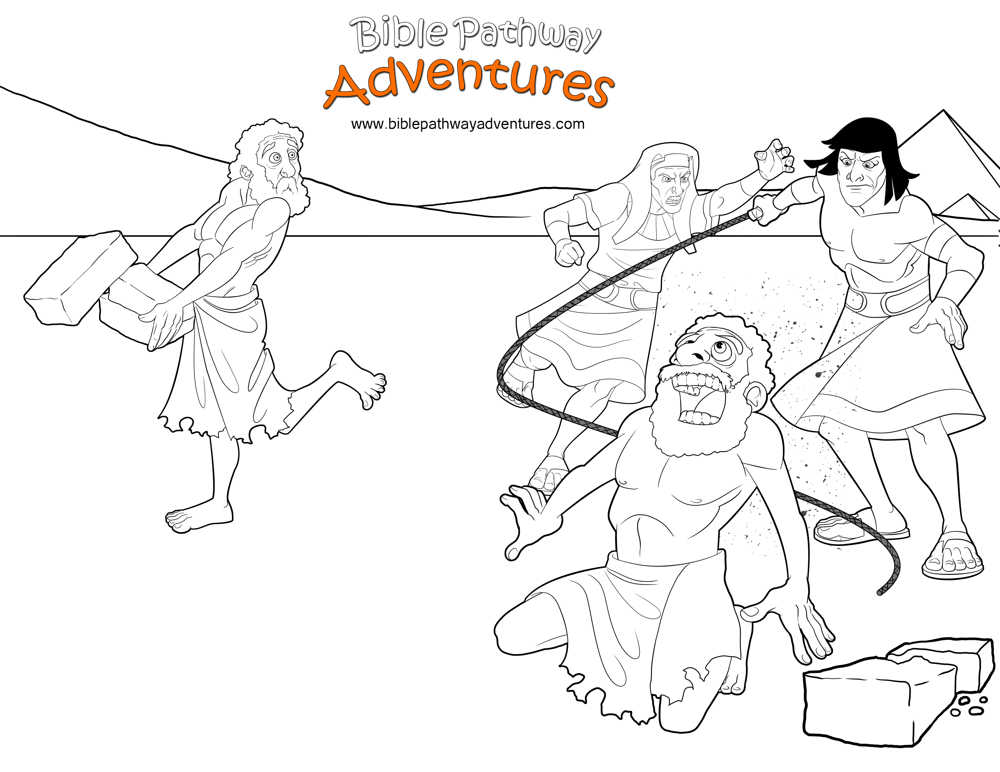 Bible Coloring Page: Moses Protects A Hebrew Slave   Free ...
