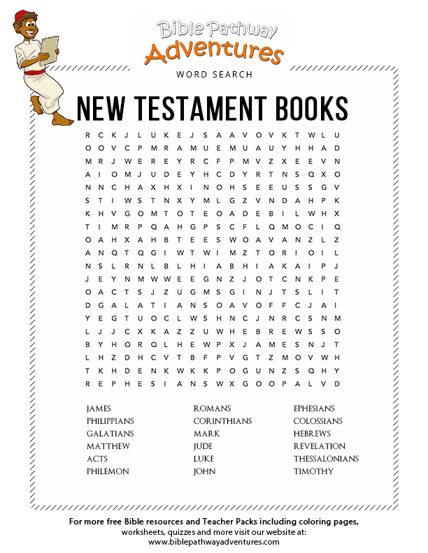 Books Of The Bible New Testament Kid's Coloring Page Free To Print ... | 792x612