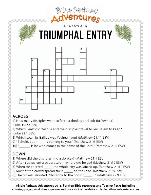 Triumphal Entry – Bible Pathway Adventures