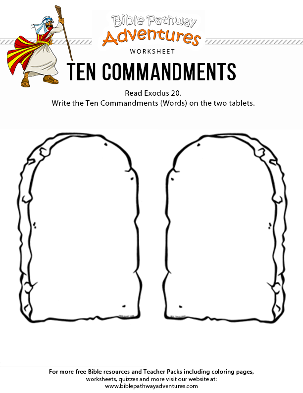 photo relating to Ten Commandments Printable Activities identified as 10 Commandments Bible Pathway Adventures