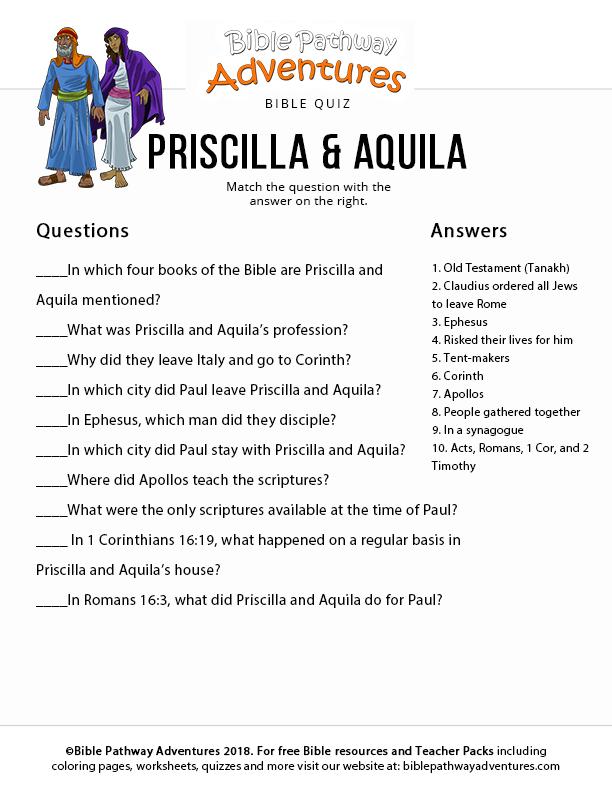 Priscilla and Aquila Bible Pathway Adventures