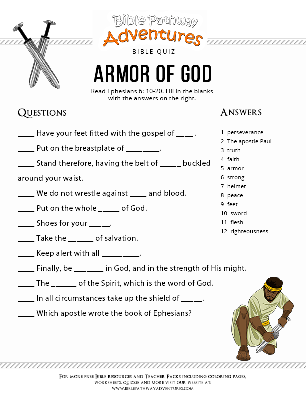 Armor of God - Bible Pathway Adventures