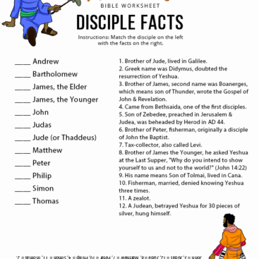 Worksheets – Page 4 – Bible Pathway Adventures