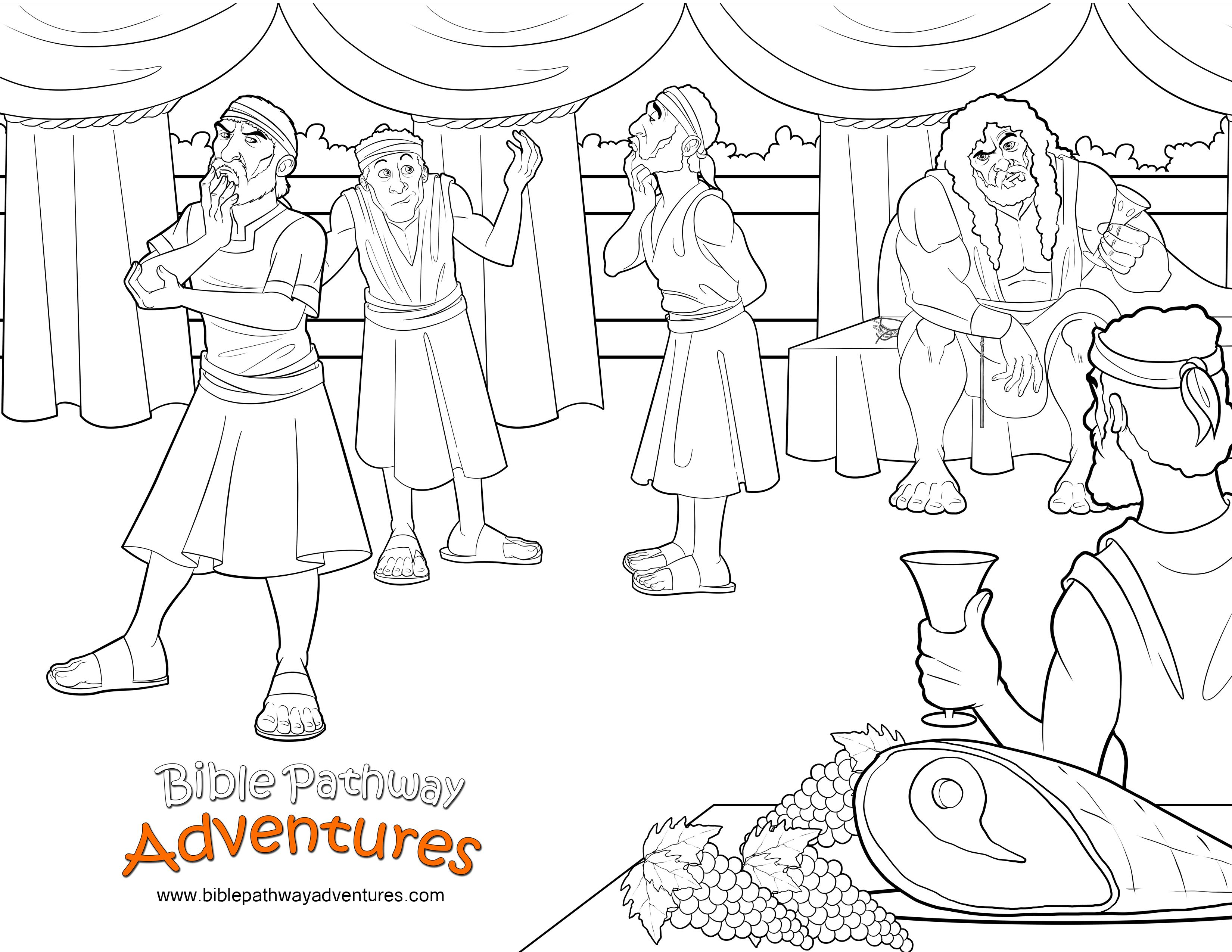 Bible Coloring Page: Samson and the Riddle | Free Download