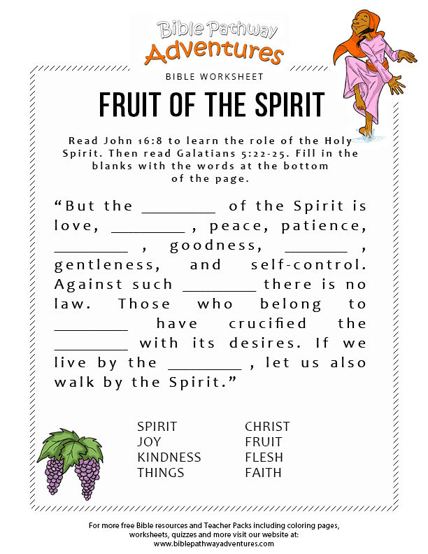 photograph regarding Printable Fruit of the Spirit identify Fruit of the Spirit Bible Pathway Adventures