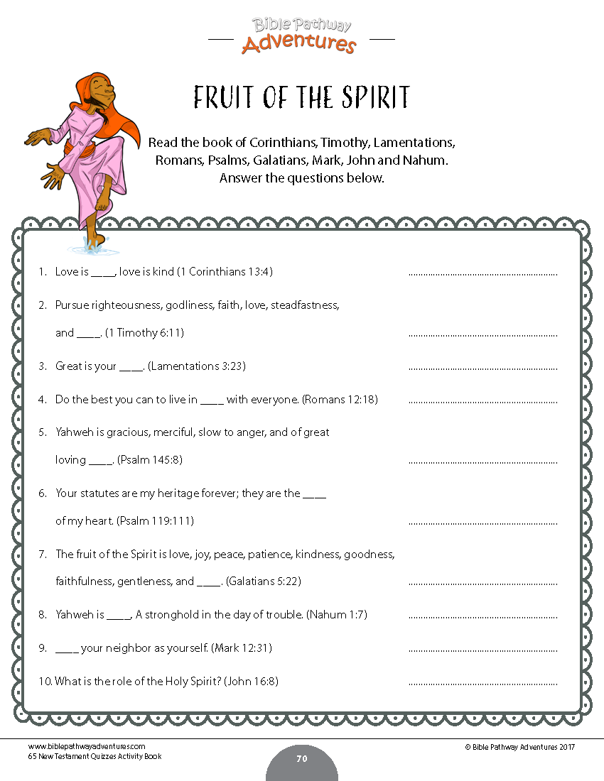 New Testament Quiz Book – Bible Pathway Adventures
