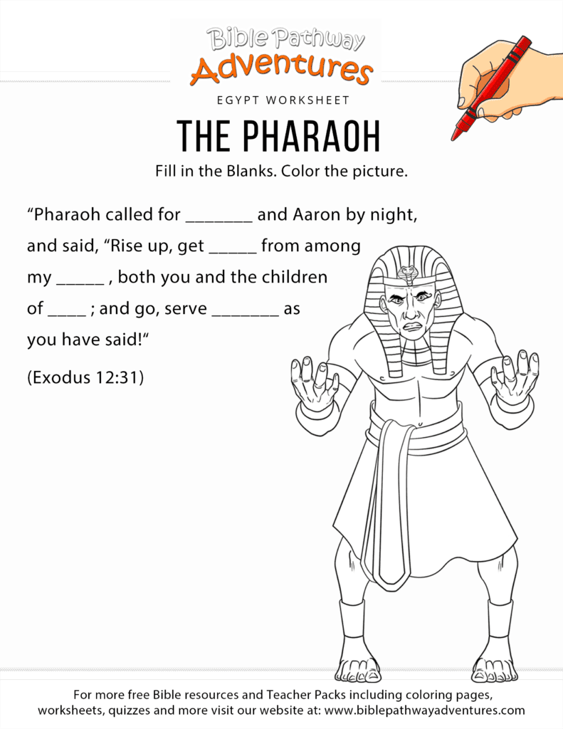 The Pharaoh Bible worksheet and