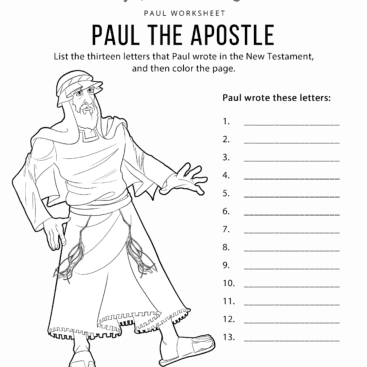 Paul The Apostle Worksheet Coloring Page