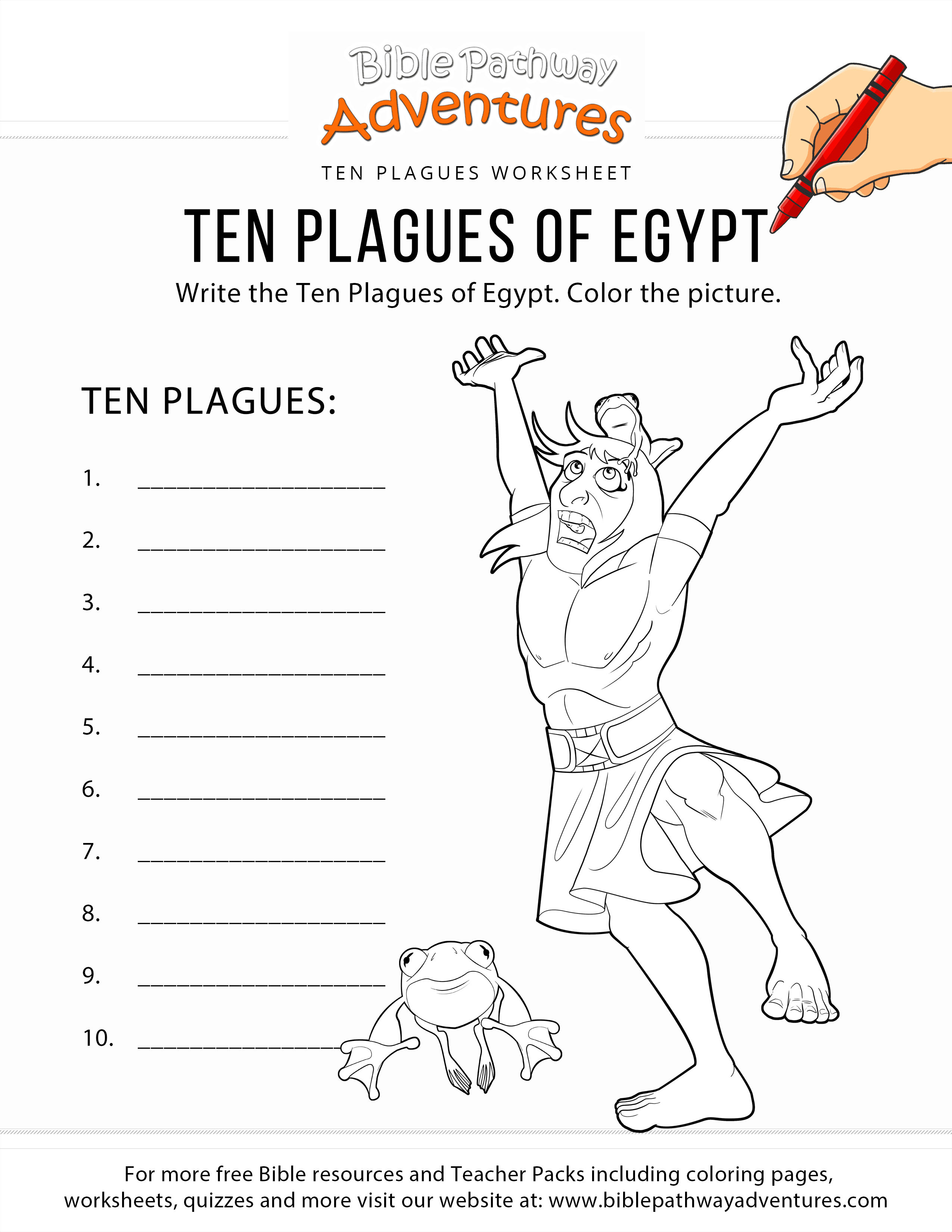 It's just a photo of Current 10 Plagues Printable