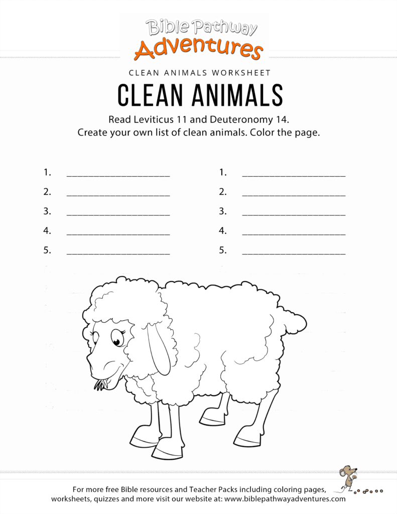 biblical animals coloring pages - photo#34
