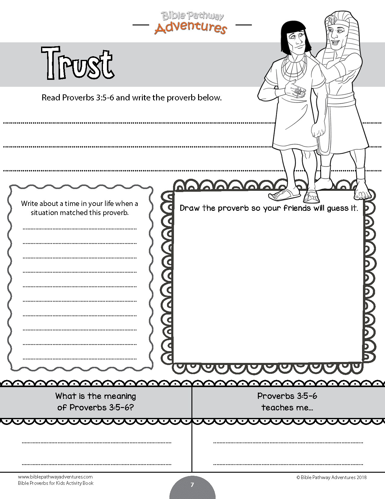 Bible Proverbs for Kids Coloring Activity Book – Bible Pathway ...