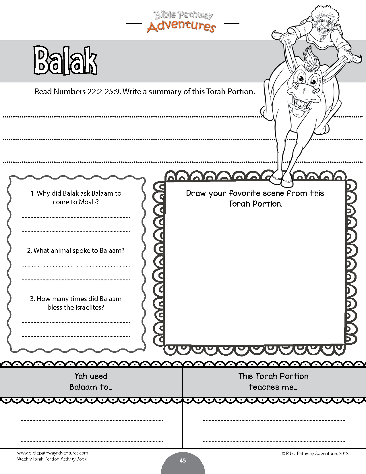 Weekly Torah Portion Coloring Activity Book – Bible Pathway