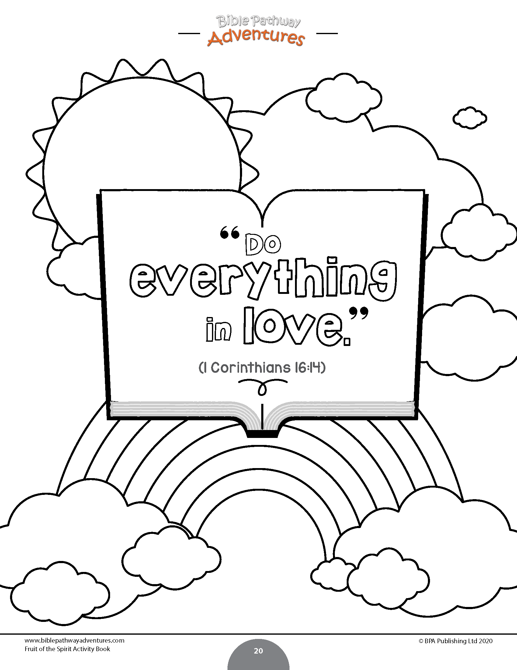 - Fruit Of The Spirit Coloring Activity Book – Bible Pathway Adventures