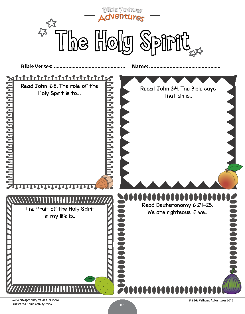 Fruit of the Spirit Coloring Activity Book – Bible Pathway