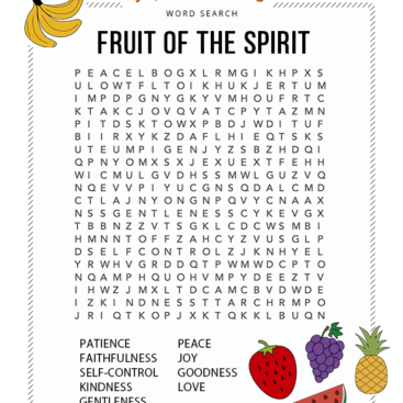 Fan image for free printable bible word search puzzles