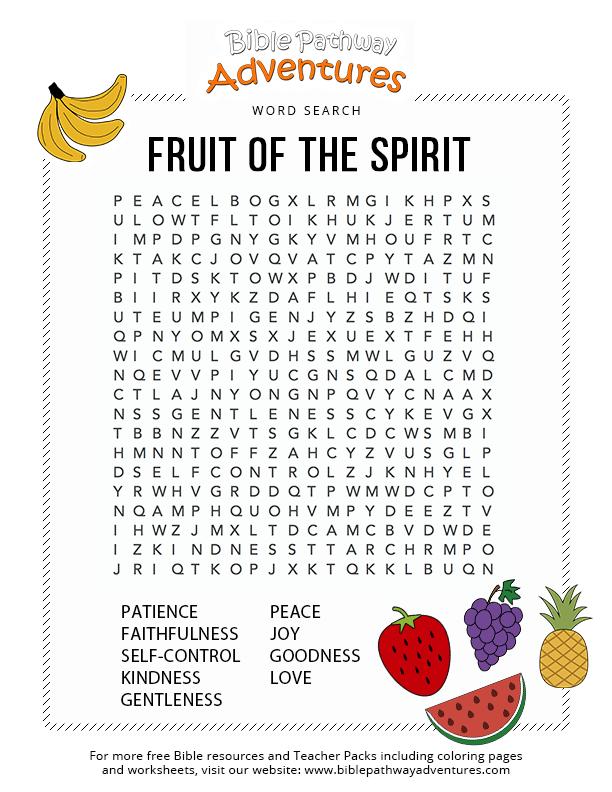 Fruit of the Spirit   Bible Pathway Adventures