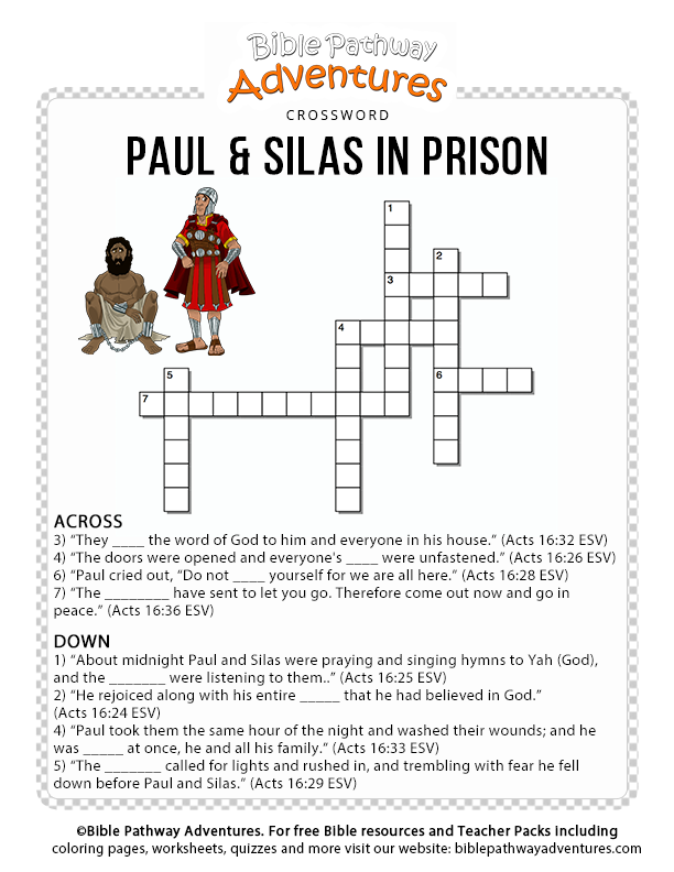 Paul Amp Silas In Prison Bible Pathway Adventures