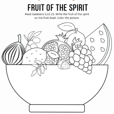 Printable Bible Coloring Pages For Kids