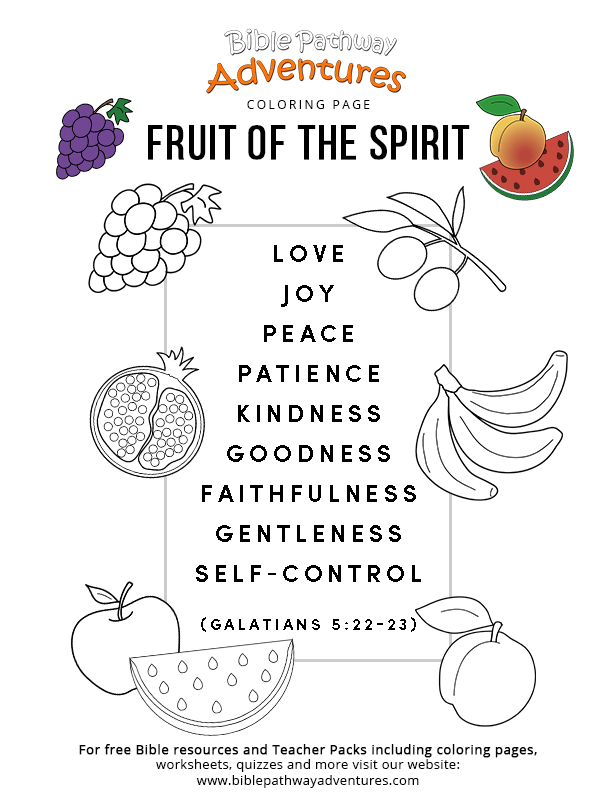 Fruit Of The Spirit – Bible Pathway Adventures