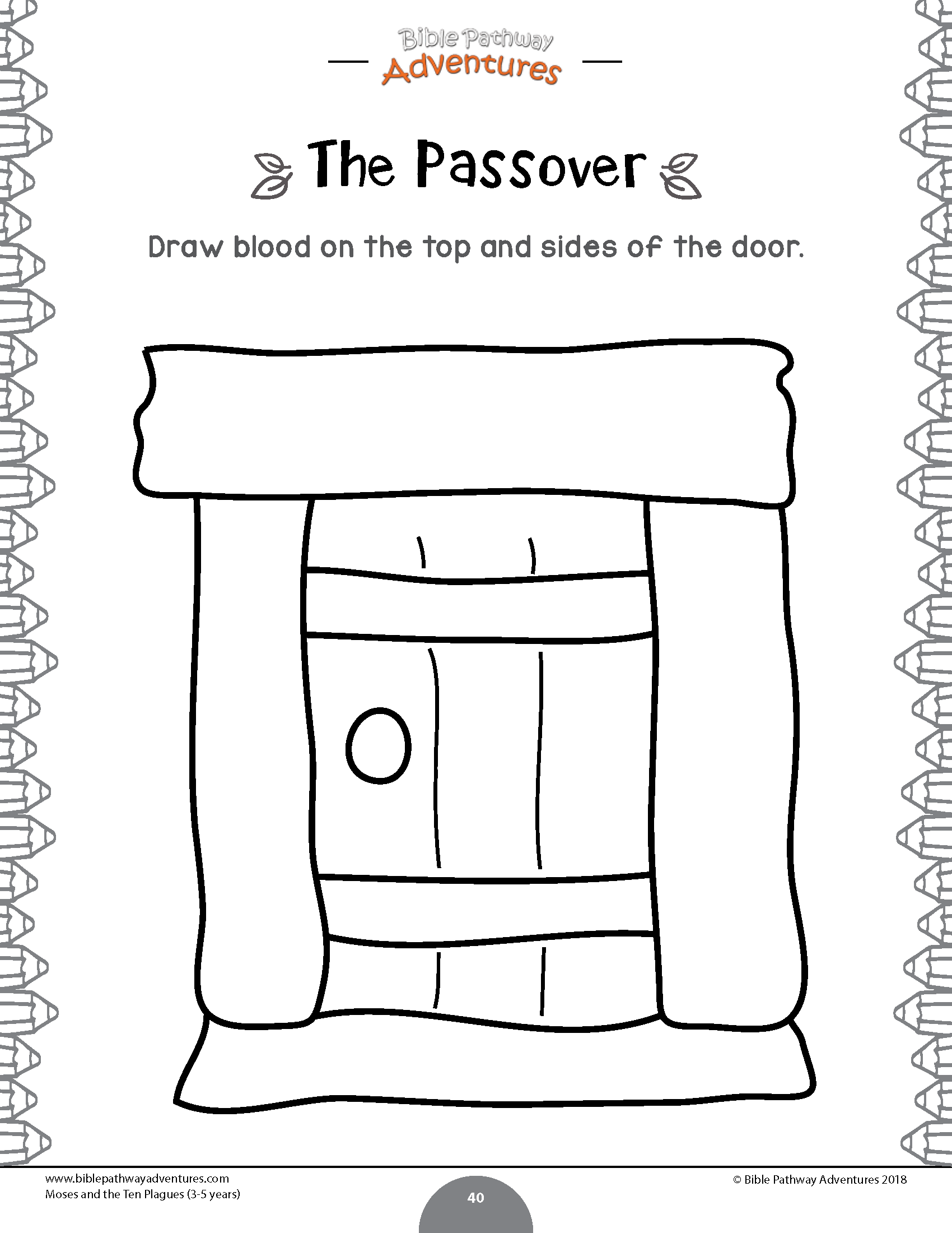 Passover Door Page Coloring Pages
