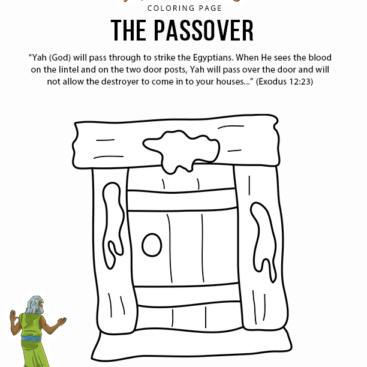 Israelites Crossing The Red Sea Coloring Page - Coloring Home | 367x367