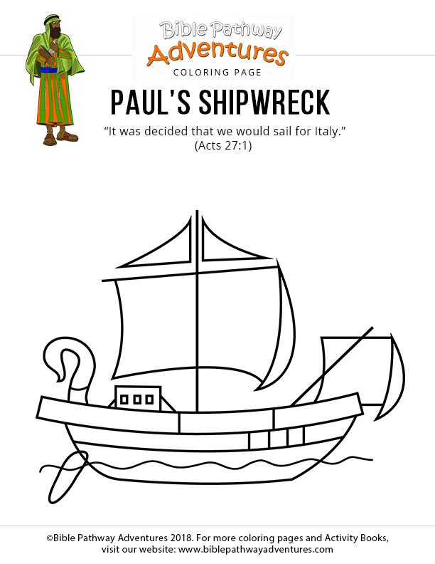 Paul S Shipwreck Bible Pathway Adventures