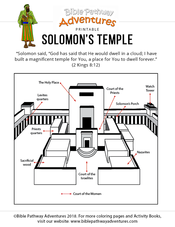 It's just a graphic of Enterprising solomon's temple coloring page